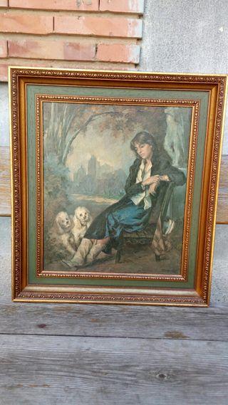 La dama con los caniches Francisco Ribera