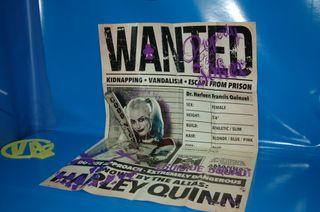 Poster HARLEY QUINN buen estado medidas 90 x60 cm