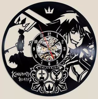 RELOJ DE PARED VINILO KINGDOM HEARTS