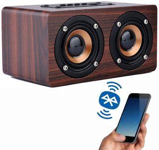 Altavoz madera vintage Bluetooth NUEVO