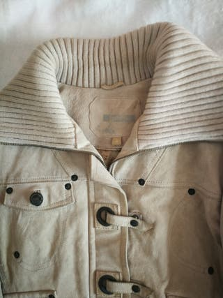 chaqueta de ante