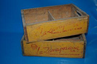 Lote 2 cajas de madera LA ZARAGOZANA coleccionismo
