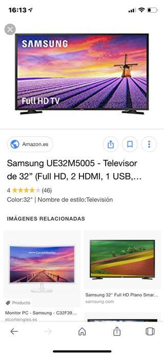 "Televisor samsung 32"" full hd 3 hdmi 2 usb"