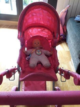 carrito y silla juguete muñeca