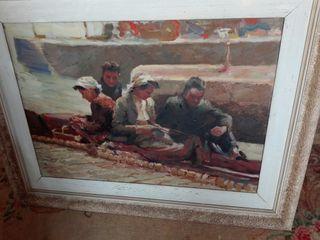 oleo pintado espectacular antiguo