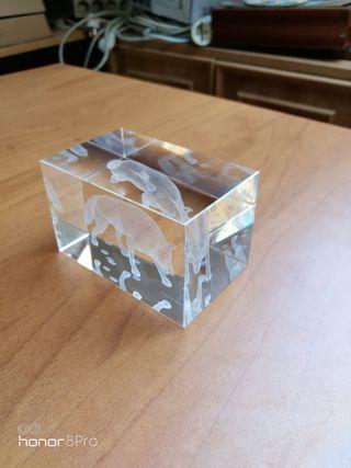 Pisapapeles cristal Laser 3D LOBO