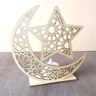 Luna de madera para decoración