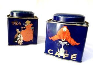 Cajas inglesas de café y té