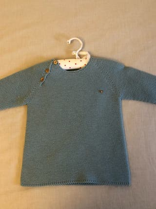 Micanesu jersey de punto azul T.36 meses