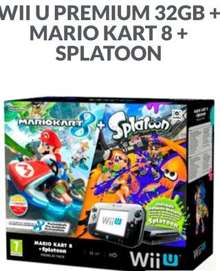 Consola Wii U pack Mario+Splatoon