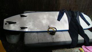 tabla surf deeply, neopreno y cable
