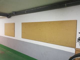 Tablon de madera + 3 caballetes