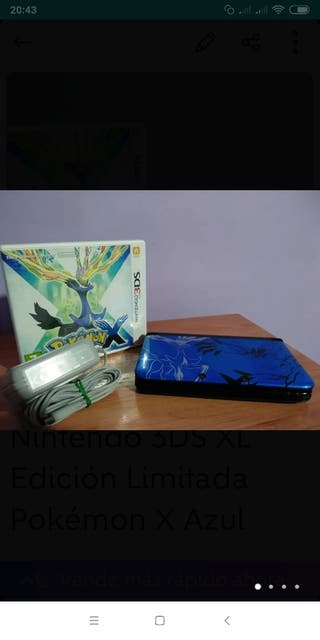 Nintendo 3DS XL Edición Limitada Pokémon X Azul