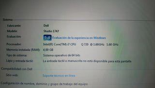 Dell portatil studio 17/1747