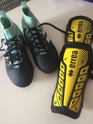 Botas de fútbol y Espinilleras niño
