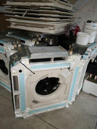 sistema de aire acondicionado interior y exterior