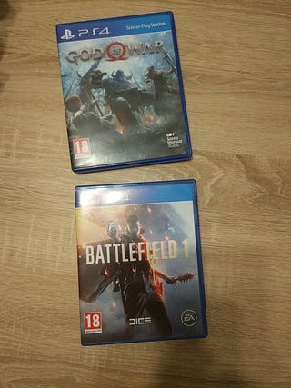 Pack juegos PS4 God Of War y Battlefield 1