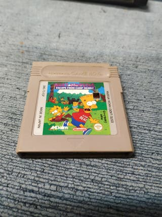 Bart Simpon's escape from camp deadly - Gameboy
