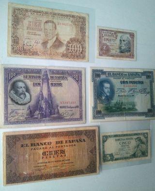 Lote Billetes Pesetas