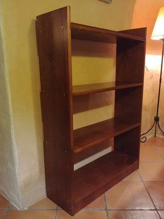 Estanteria de madera 117 x 80 x 27 cm