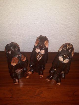 Figuras decoración perritos de la sabiduría