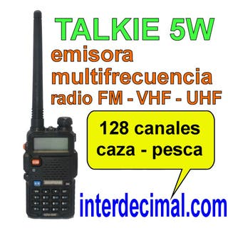 Walkie Talkie caza pesca - manual en español