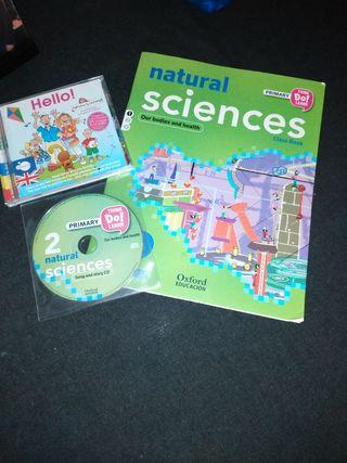 libro de science +CD audio + CD English songs