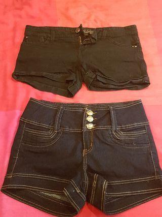 2 pantalones corto