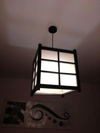 lámpara panel japonés