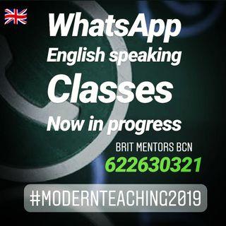 English speaking clases whatsapp