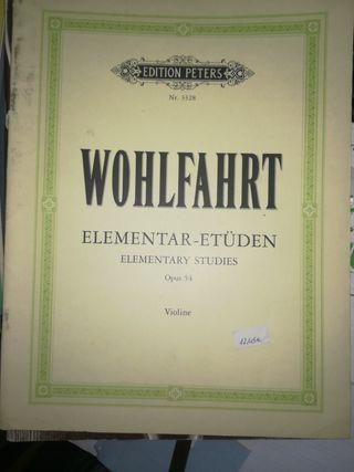WOHLFAHRT Elementar-Etuden Opus 54 Violine