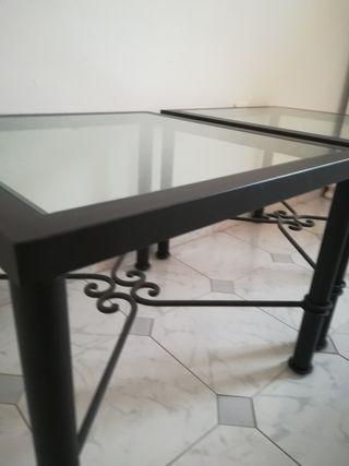 mesas de salón de hierro
