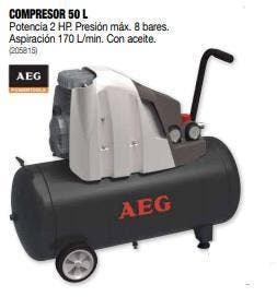 Compresor AEG 50 LITROS