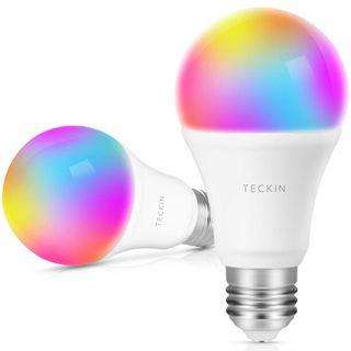 (2 uds.) TECKIN Bombilla LED inteligente WiFi