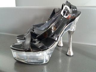15 Tacón Por Segunda Y Mnwnv80 De Charol € En Mano Metacrilato Zapatos 80wPnOk