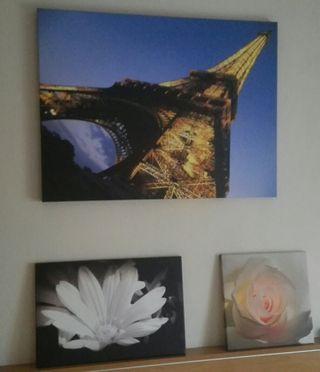 Cuadro de la Torre Eiffel en lienzo.