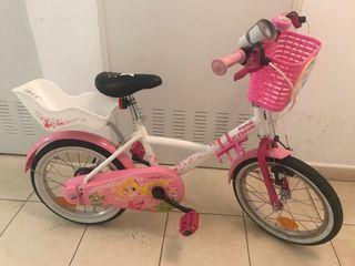 "Bicicleta niña 16"" (incl. ruedines)"