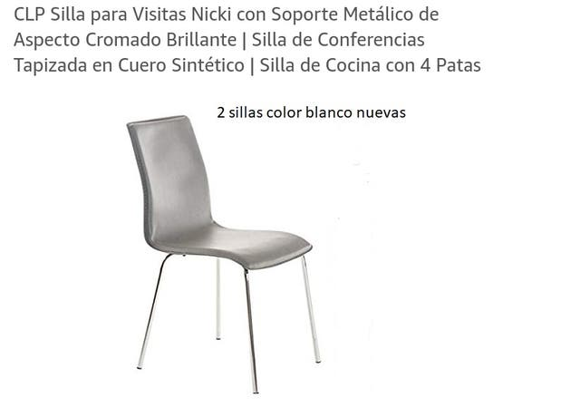 2 sillas comedor blancas de segunda mano por 30 € en Zaragoza en ...