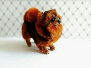 NUEVO Miniatura pomeranian figurin perrito
