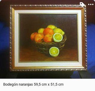 Cuadro óleo - Bodegón naranjas