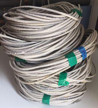7 Rollos cable internet RJ45 cat5E 200MHZ