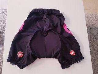 culotte ciclismo chica. marca castelli