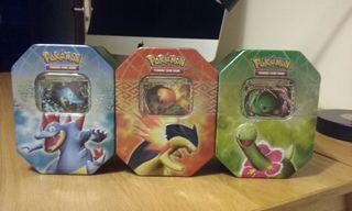 Pokemon JCC Tin Box Tyhplosion , Meganium y Ferali