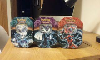 Pokemon JCC Tin Box Thundurus,Lugia y Deoxys