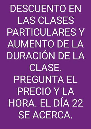 DESCUENTO EN LAS CLASES PARTICULARES