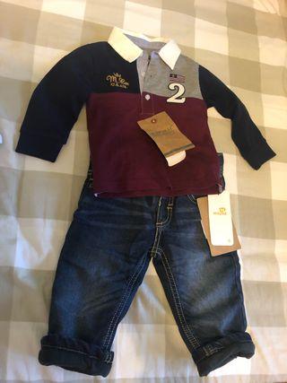 Conjunto pantalón y polo Mayoral bebé