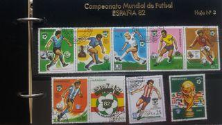 COLECCIÓN DE SELLOS MUNDIAL DE FÚTBOL ESPAÑA 1982