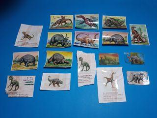 autenticos cromos de los dinosaurios