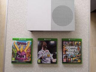 xbox one s + 3 juegos