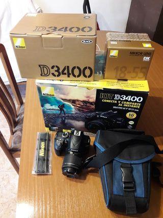Nikon D3400 como nueva